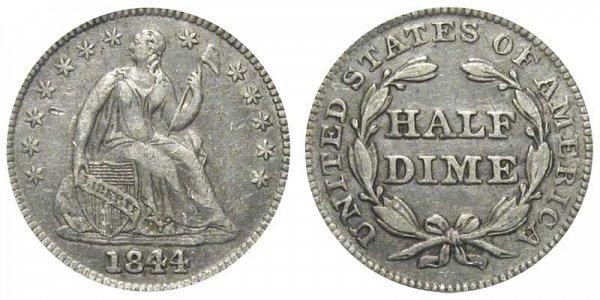 1844 Seated Liberty Half Dime