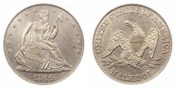 1844 Seated Liberty Half Dollar