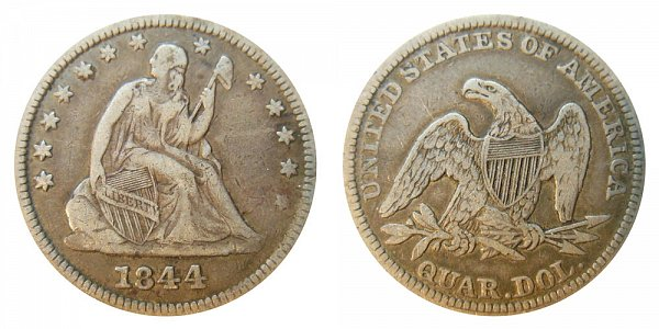 1844 Seated Liberty Quarter