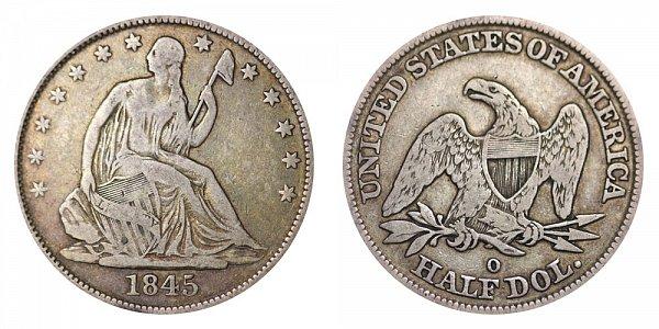 1845 O Seated Liberty Half Dollar - No Drapery