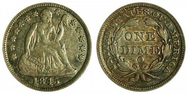 1845 O Seated Liberty Dime