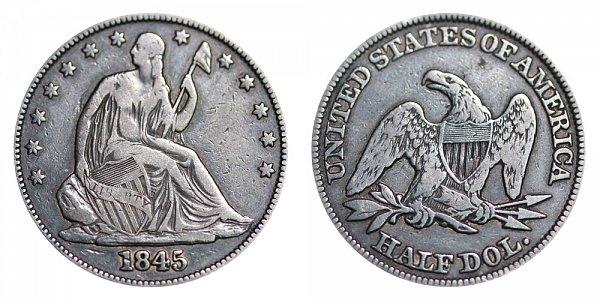 1845 Seated Liberty Half Dollar