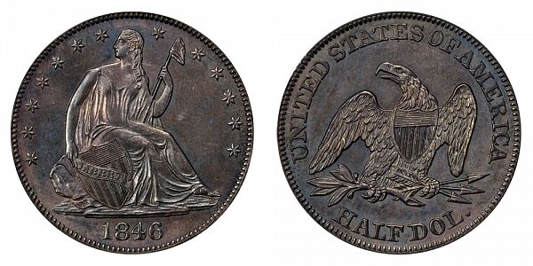 1846 Seated Liberty Half Dollar - Medium Date