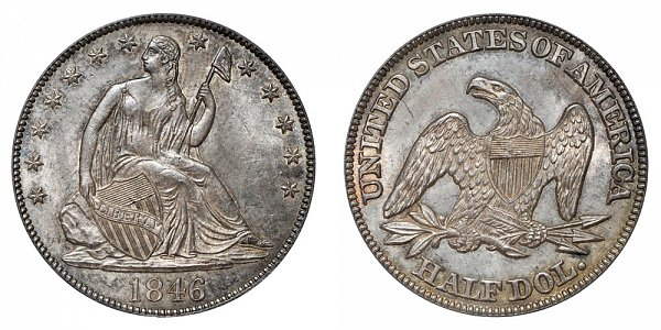 1846 Seated Liberty Half Dollar - Tall Date