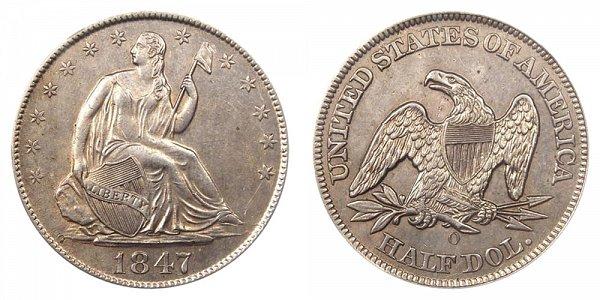 1847 O Seated Liberty Half Dollar