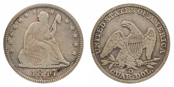 1847 O Seated Liberty Quarter
