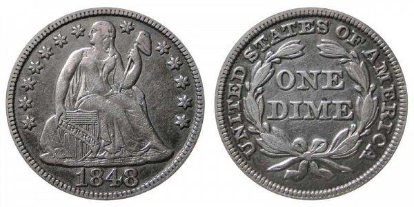 1848 Seated Liberty Dime