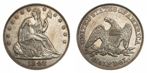 1848 Seated Liberty Half Dollar