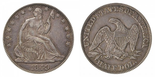 1849 Seated Liberty Half Dollar