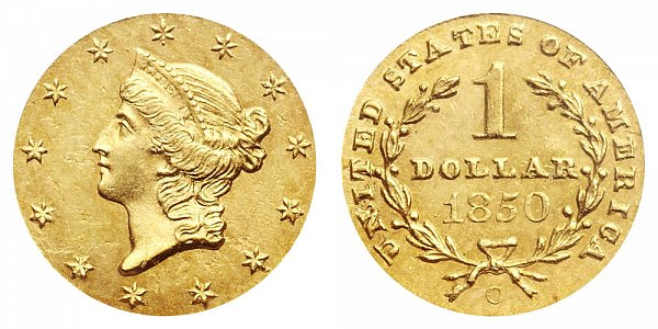 1850 C Liberty Head Gold Dollar G$1