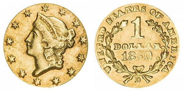 1850 D Liberty Head Gold Dollar G$1