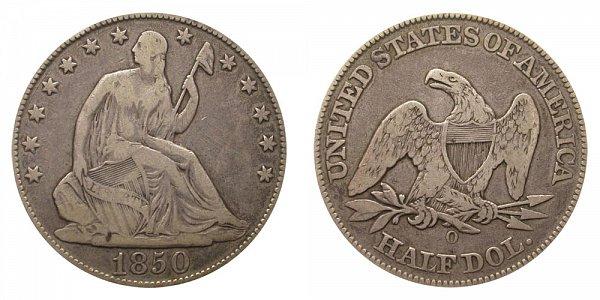 1850 O Seated Liberty Half Dollar