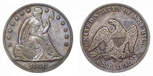 1850 O Seated Liberty Silver Dollar