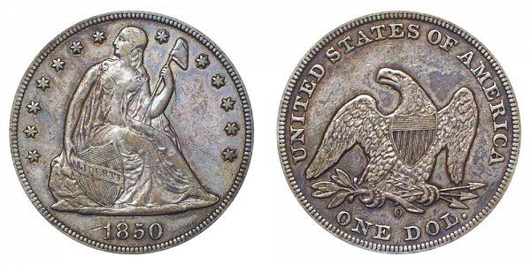 1850 O Seated Liberty Silver Dollar