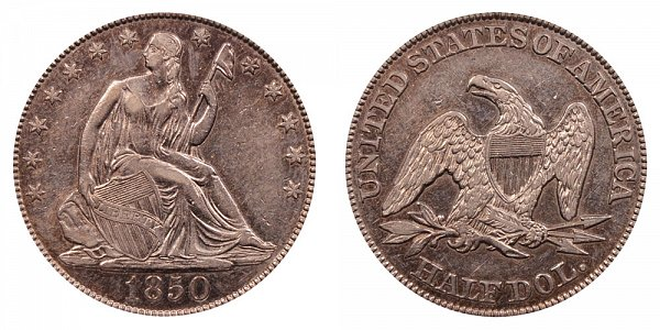 1850 Seated Liberty Half Dollar