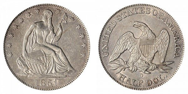 1851 O Seated Liberty Half Dollar