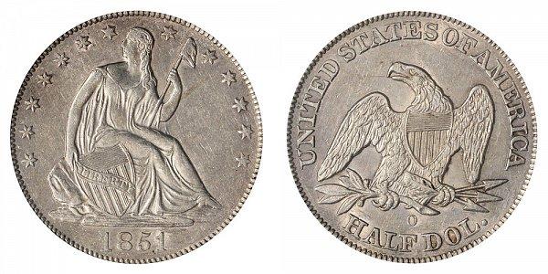 1851 O Seated Liberty Half Dollar