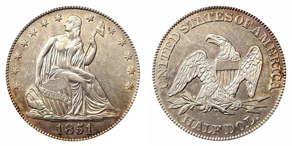 1851 Seated Liberty Half Dollar