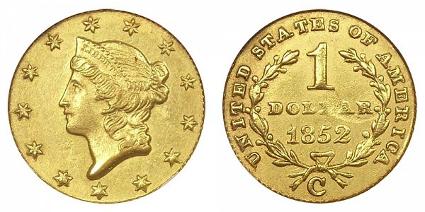 1852 C Liberty Head Gold Dollar G$1