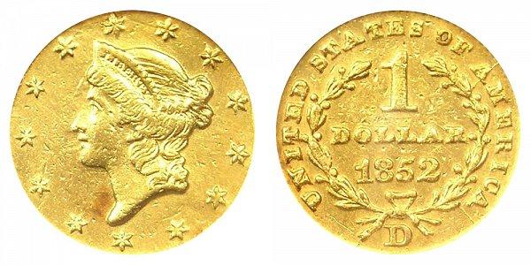 1852 D Liberty Head Gold Dollar G$1