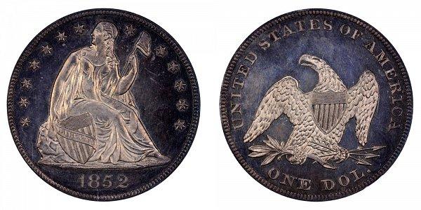1852 Seated Liberty Silver Dollar Restrike