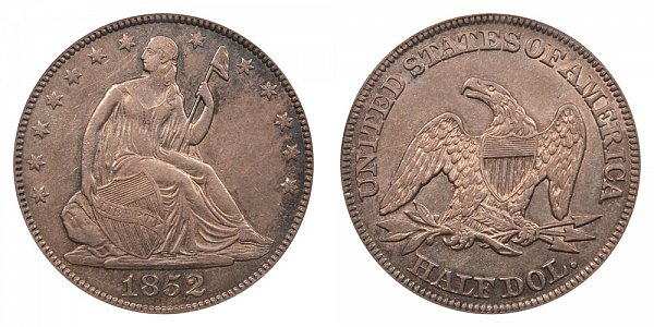 1852 Seated Liberty Half Dollar