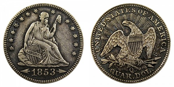 1853 O Seated Liberty Quarter