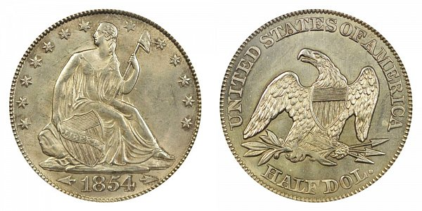 1854 Seated Liberty Half Dollar