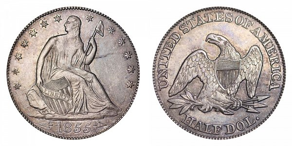 1855 Seated Liberty Half Dollar
