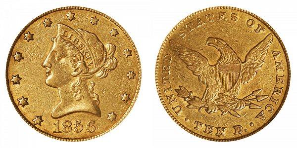 1856 Liberty Head $10 Gold Eagle - Ten Dollars