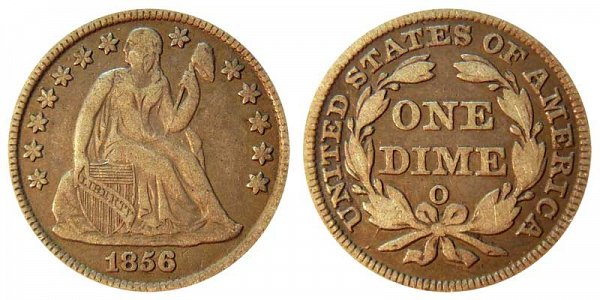 1856 O Seated Liberty Dime