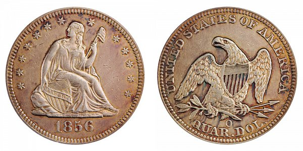 1856 O Seated Liberty Quarter