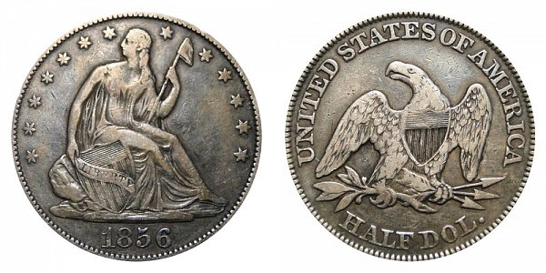 1856 Seated Liberty Half Dollar