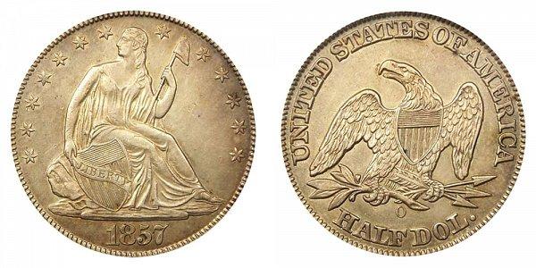 1857 O Seated Liberty Half Dollar
