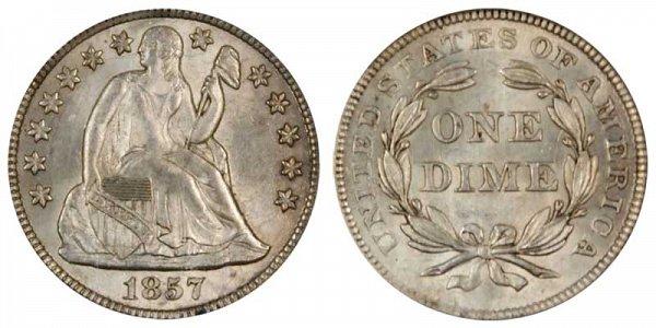1857 Seated Liberty Dime