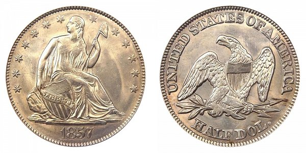 1857 Seated Liberty Half Dollar