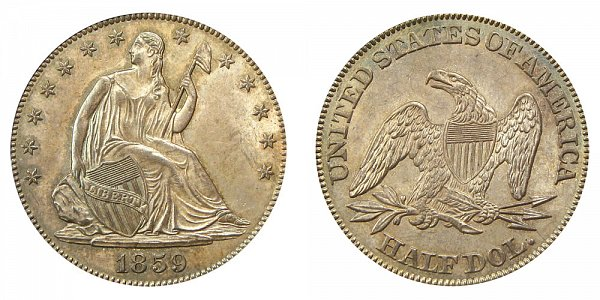 1859 Seated Liberty Half Dollar
