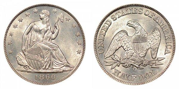 1860 O Seated Liberty Half Dollar