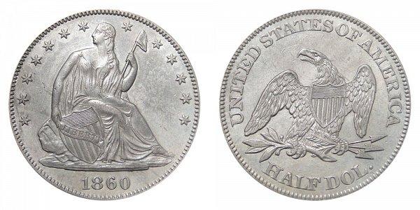 1860 Seated Liberty Half Dollar