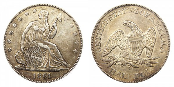 1861 O Seated Liberty Half Dollar