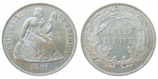 1861 Seated Liberty Dime
