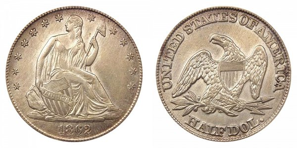 1862 Seated Liberty Half Dollar