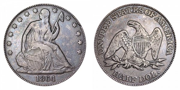 1864 Seated Liberty Half Dollar
