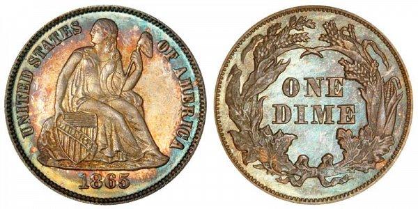 1865 Seated Liberty Half Dime