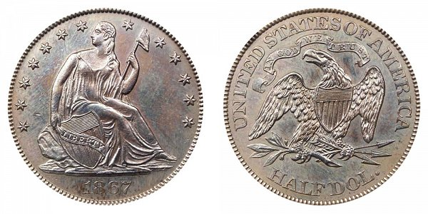 1867 Seated Liberty Half Dollar