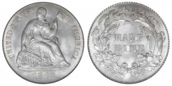 1868 Seated Liberty Half Dime