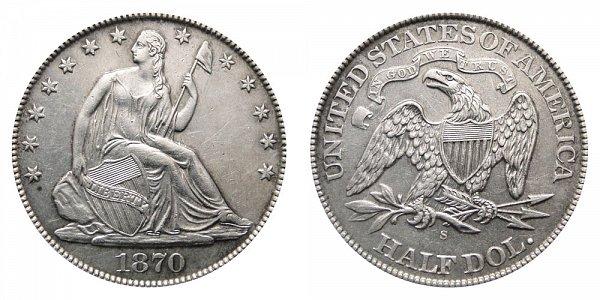 1870 S Seated Liberty Half Dollar