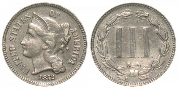1872 Nickel Three Cent Piece