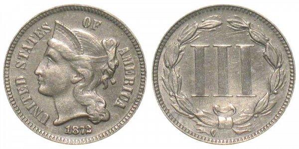 1872 Nickel Three Cent Piece