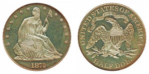 1872 Seated Liberty Half Dollar